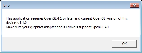 how to fix ros this application requires open gl 4.1