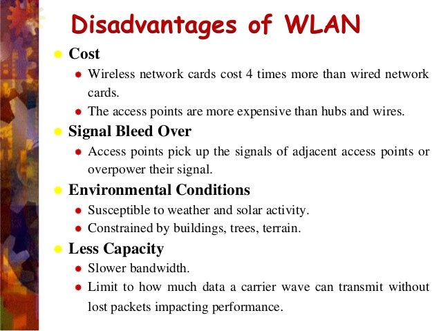 advantages and application of wlan