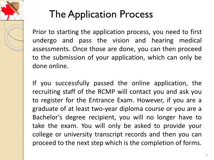 duration of rcmp application process