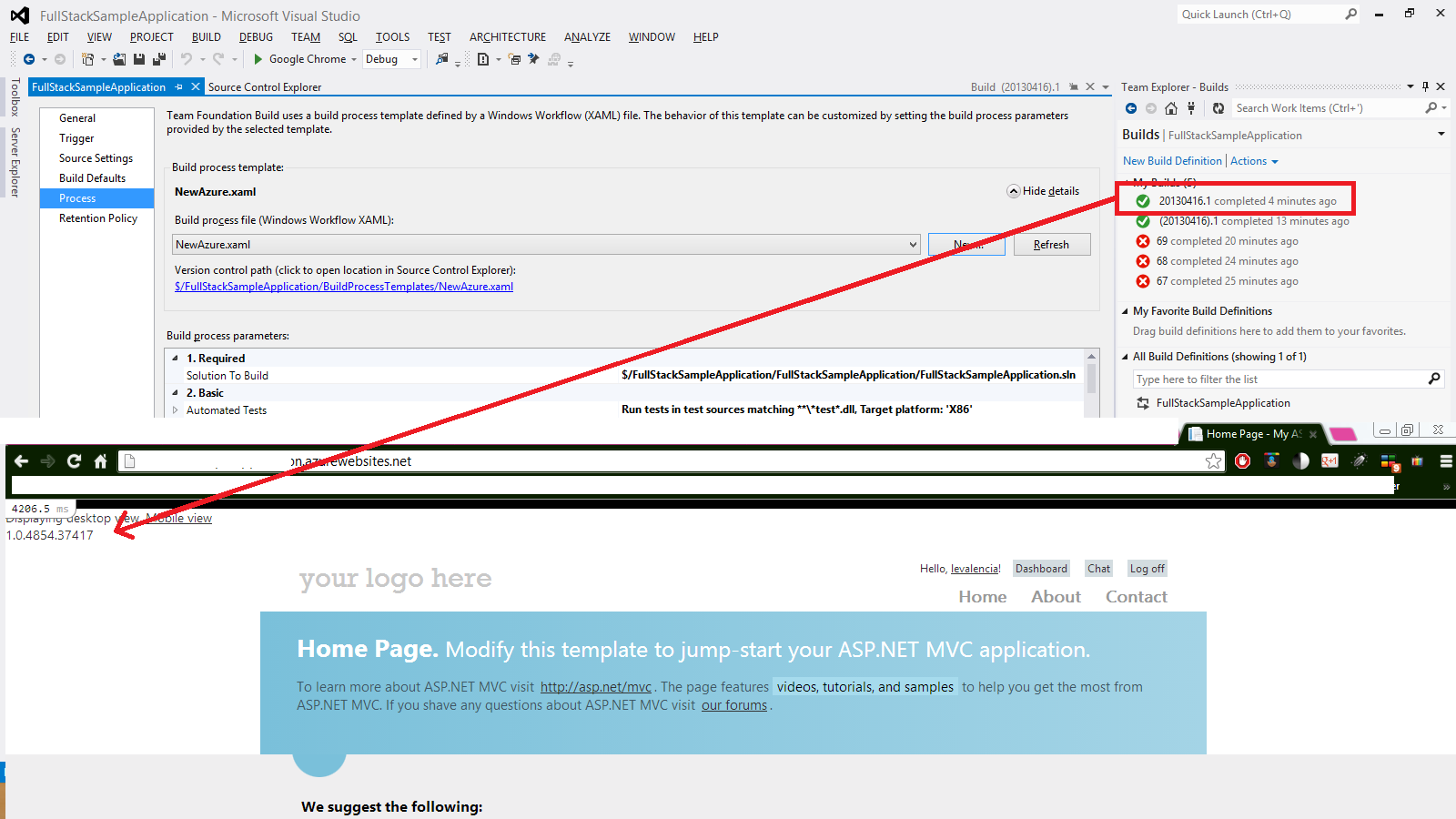 where the mvc application in asp.net are located