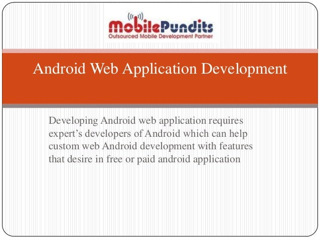 android application development web services