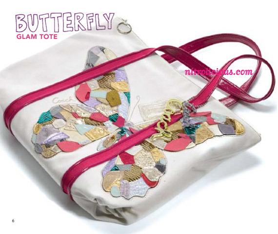 coach swagger butterfly applique tote