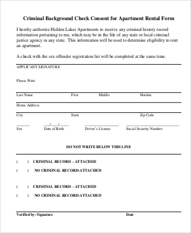 application form for canadian criminal record check