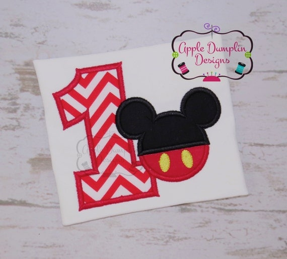 minnie and mickey mouse applique for machine embroidery