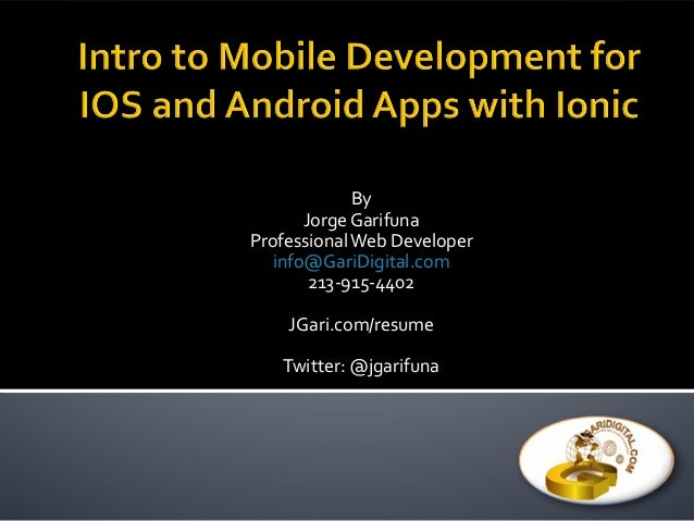 mobile application development in android and ios ppt