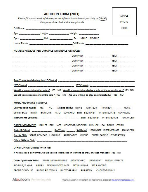 online application for acting school